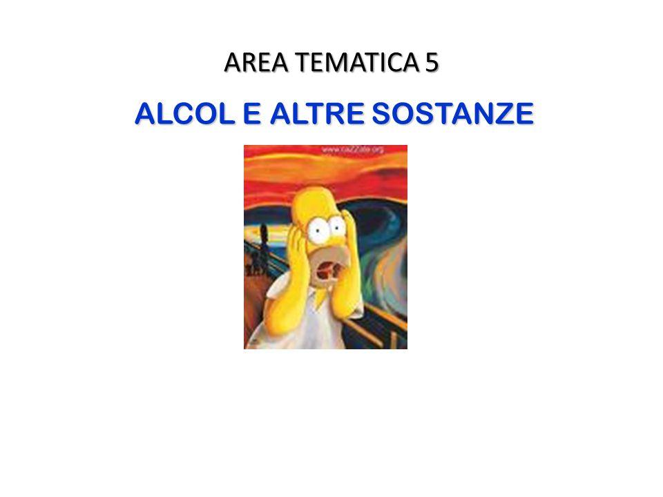 AREA TEMATICA 5 ALCOL E ALTRE SOSTANZE