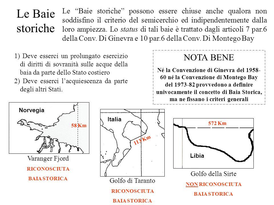 """Le Baie storiche Le """"Baie storiche"""" possono essere chiuse anche qualora non soddisfino il criterio del semicerchio ed indipendentemente dalla loro amp"""