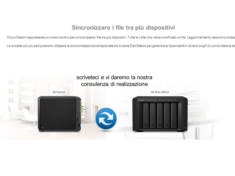 Sincronizzare i file tra più dispositivi Cloud Station rappresenta un modo intuitivo per sincronizzare i file tra più dispositivi.