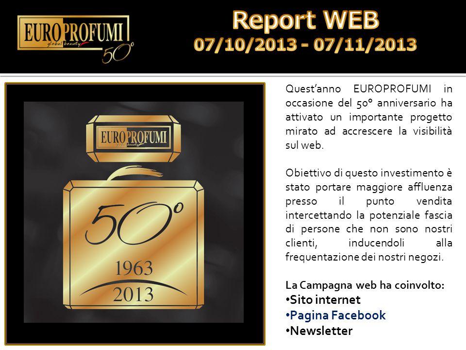 Quest'anno EUROPROFUMI in occasione del 50° anniversario ha attivato un importante progetto mirato ad accrescere la visibilità sul web. Obiettivo di q