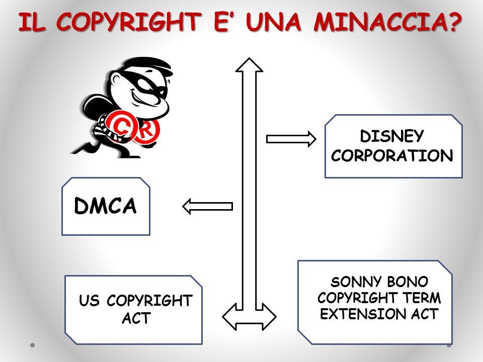 IL COPYRIGHT E' UNA MINACCIA? US COPYRIGHT ACT SONNY BONO COPYRIGHT TERM EXTENSION ACT DMCA DISNEY CORPORATION