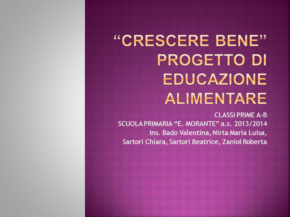 """CLASSI PRIME A-B SCUOLA PRIMARIA """"E. MORANTE"""" a.s. 2013/2014 Ins. Bado Valentina, Nirta Maria Luisa, Sartori Chiara, Sartori Beatrice, Zaniol Roberta"""