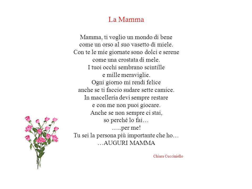 La Mamma Mamma, ti voglio un mondo di bene come un orso al suo vasetto di miele.