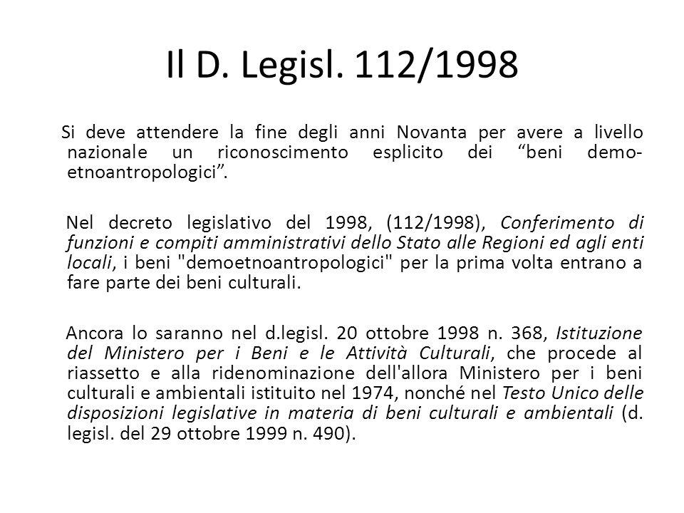 Il D.Legisl.