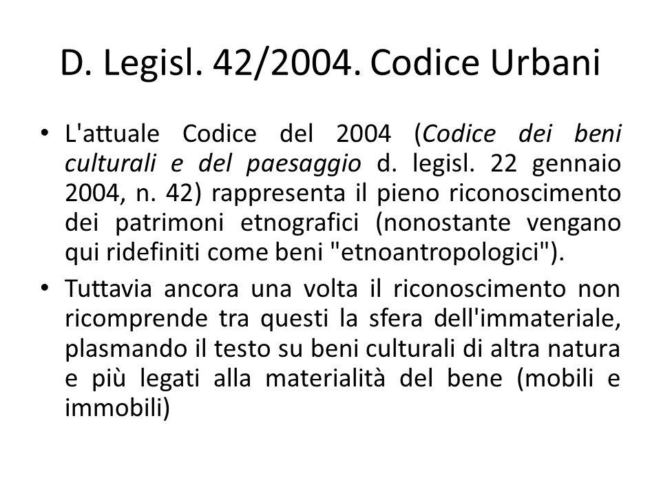 D.Legisl. 42/2004.