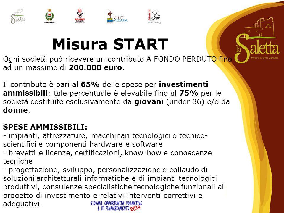 Ogni società può ricevere un contributo A FONDO PERDUTO fino ad un massimo di 200.000 euro. Il contributo è pari al 65% delle spese per investimenti a