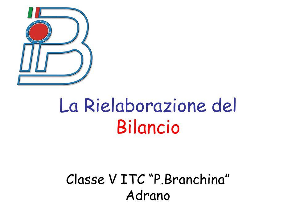 """La Rielaborazione del Bilancio Classe V ITC """"P.Branchina"""" Adrano"""