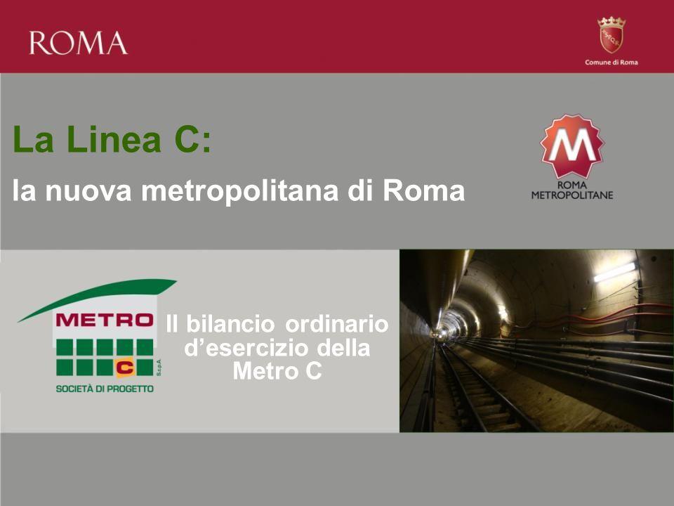 La Linea C: la nuova metropolitana di Roma Il bilancio ordinario d'esercizio della Metro C