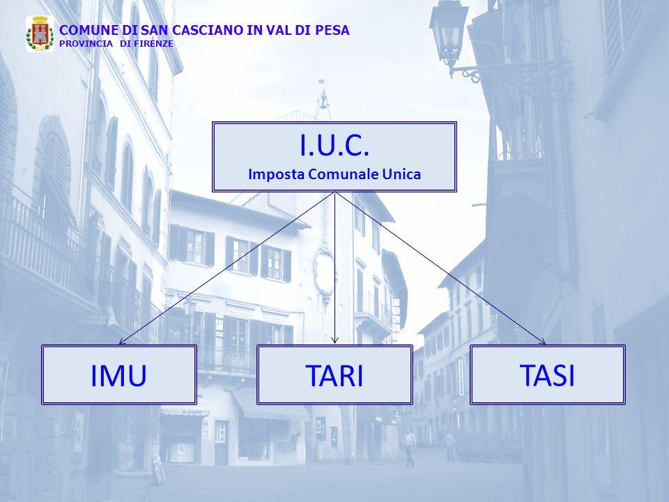 I.U.C. Imposta Comunale Unica IMUTARI TASI COMUNE DI SAN CASCIANO IN VAL DI PESA PROVINCIA DI FIRENZE