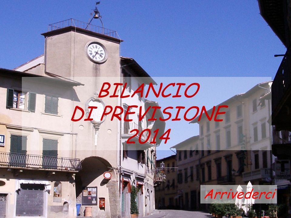 BILANCIO DI PREVISIONE 2014 Arrivederci