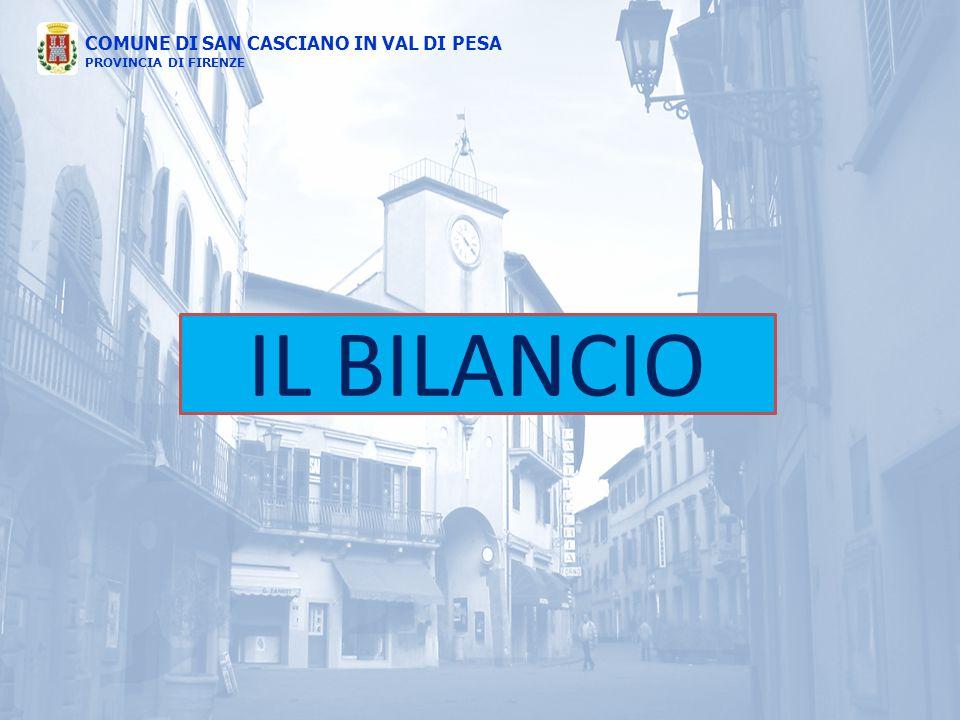 COMUNE DI SAN CASCIANO IN VAL DI PESA PROVINCIA DI FIRENZE IL BILANCIO