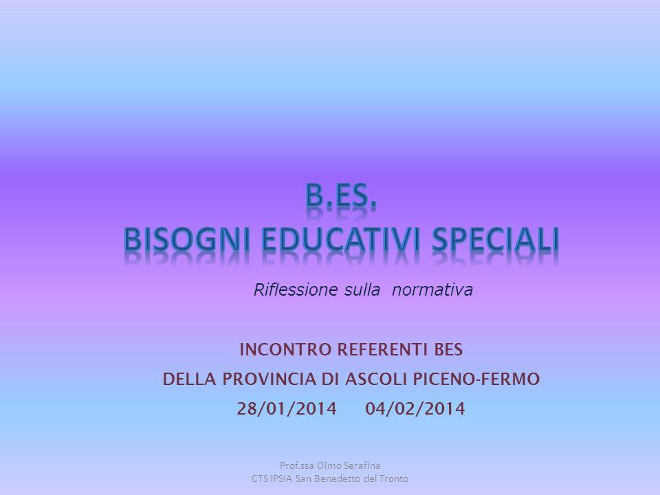 Prof.ssa Olmo Serafina CTS IPSIA San Benedetto del Tronto INCONTRO REFERENTI BES DELLA PROVINCIA DI ASCOLI PICENO-FERMO 28/01/2014 04/02/2014 Riflessi