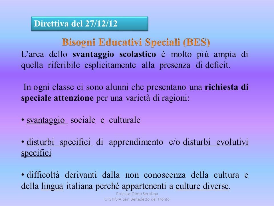 Prof.ssa Olmo Serafina CTS IPSIA San Benedetto del Tronto Direttiva del 27/12/12