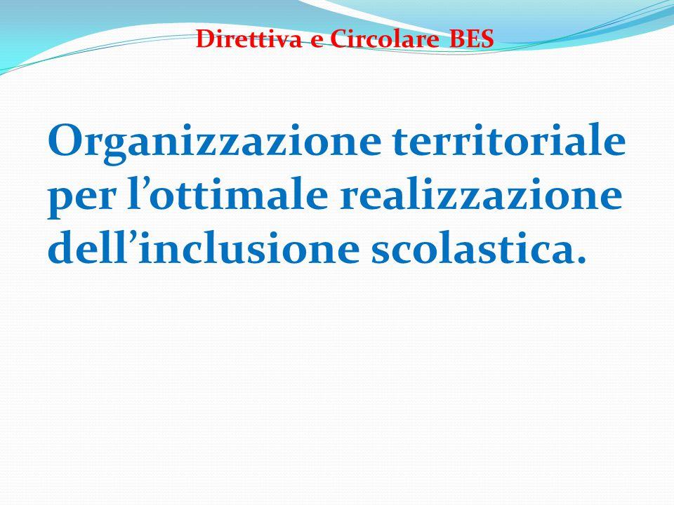 Organizzazione territoriale per l'ottimale realizzazione dell'inclusione scolastica.