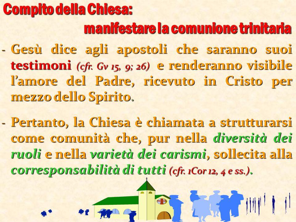 ‐ Gesù dice agli apostoli che saranno suoi testimoni (cfr. Gv 15, 9; 26) e renderanno visibile l'amore del Padre, ricevuto in Cristo per mezzo dello S