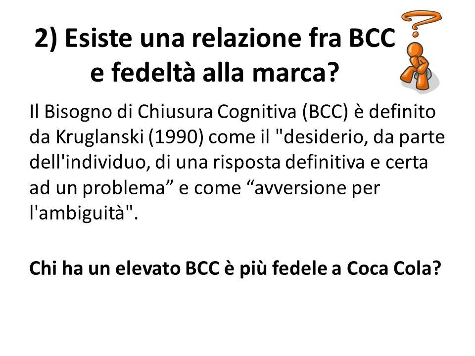 Il Bisogno di Chiusura Cognitiva (BCC) è definito da Kruglanski (1990) come il