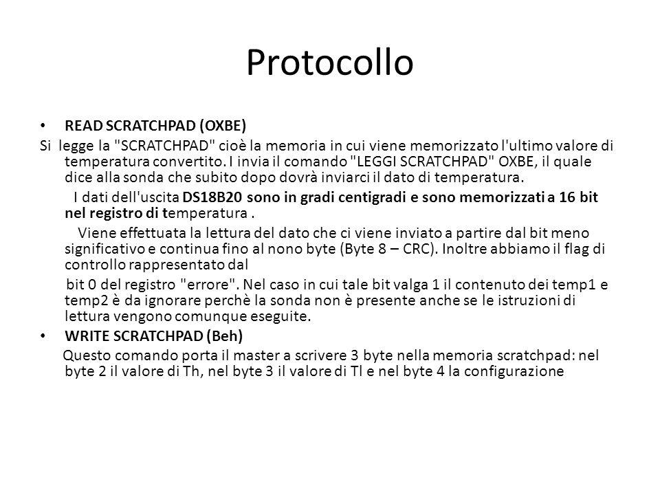 Protocollo READ SCRATCHPAD (OXBE) Si legge la