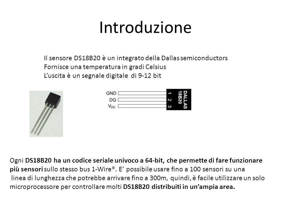 Memoria ROM La ROM a 64-bit immagazzina il codice seriale univoco del dispositivo per permettere la trasmissione seriale di più dispositivi su un bus unico.