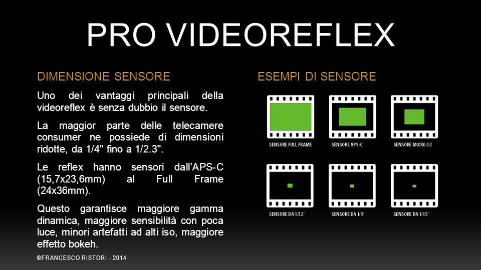 Uno dei vantaggi principali della videoreflex è senza dubbio il sensore. La maggior parte delle telecamere consumer ne possiede di dimensioni ridotte,