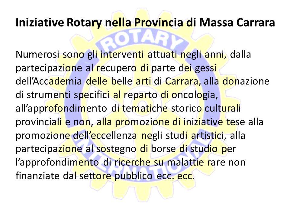 """Iniziative Rotary nella Provincia di Massa Carrara Nel 2011/2012 i clubs sono stati impegnati nel progetto """"Mens Sana in Corpore sano"""" che ha visto co"""