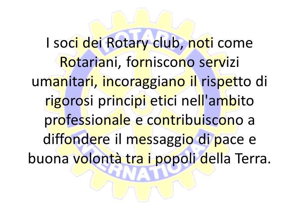 Il Rotary è un'organizzazione mondiale di oltre 1,2 milioni di uomini e donne provenienti dal mondo degli affari, professionisti e leader comunitari.