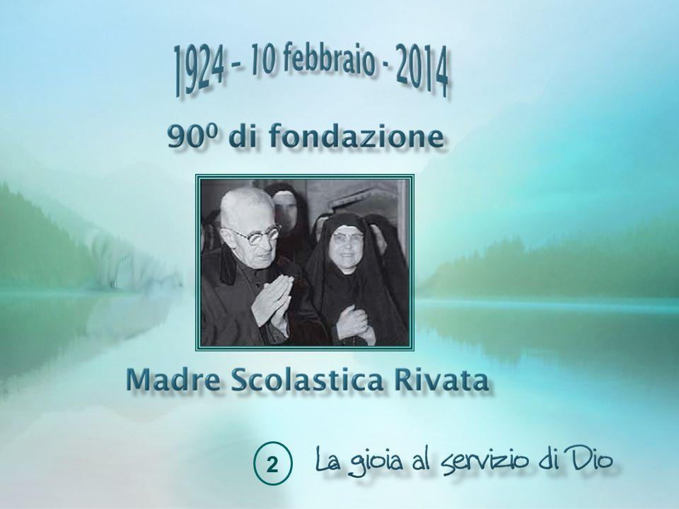 Nostalgia del Paradiso Madre Scolastica ha già visto partire per l'ultimo viaggio molte delle sorelle con cui aveva iniziato il cammino, ma il 26 novembre 1971 la morte del Fondatore segna particolarmente la sua vita.