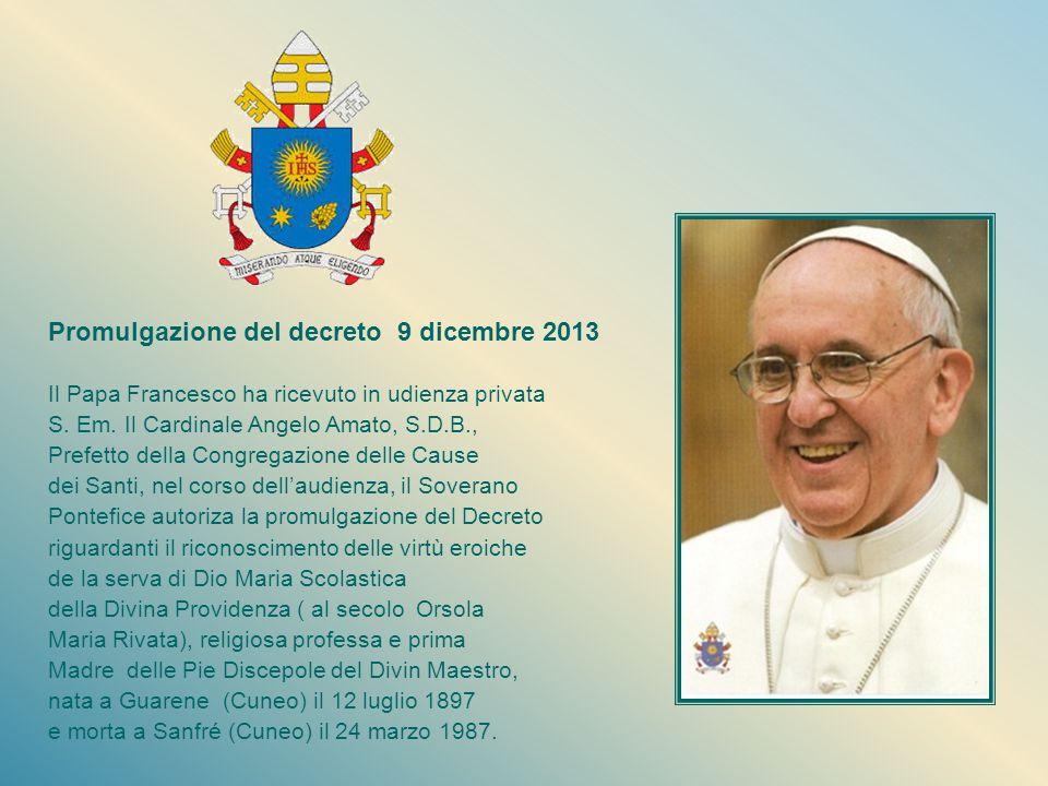 Il dono continua... Il 13 marzo 1993, in Alba, inizia il processo diocesano per la beatificazione e canonizzazione della Serva di Dio Madre Scolastica