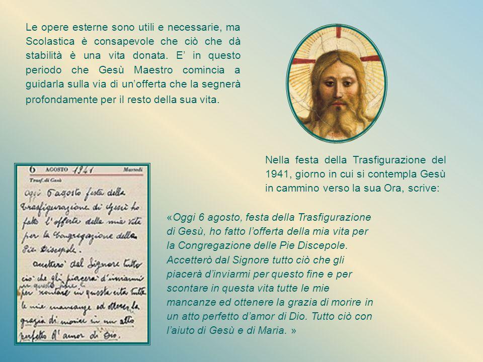 Ritorno dall'Egitto Il gruppo delle Pie Discepole del Divin Maestro, ormai consistente, senza la guida della Madre soffre, ma con determinazione dà an