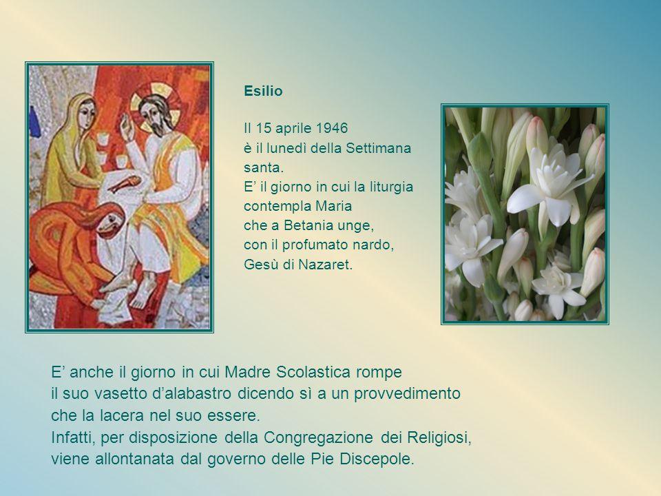 Sguardo e cuore per il mondo E'molto viva in lei la partecipazione agli eventi della società per portarli al Maestro Divino nell'Adorazione eucaristica.
