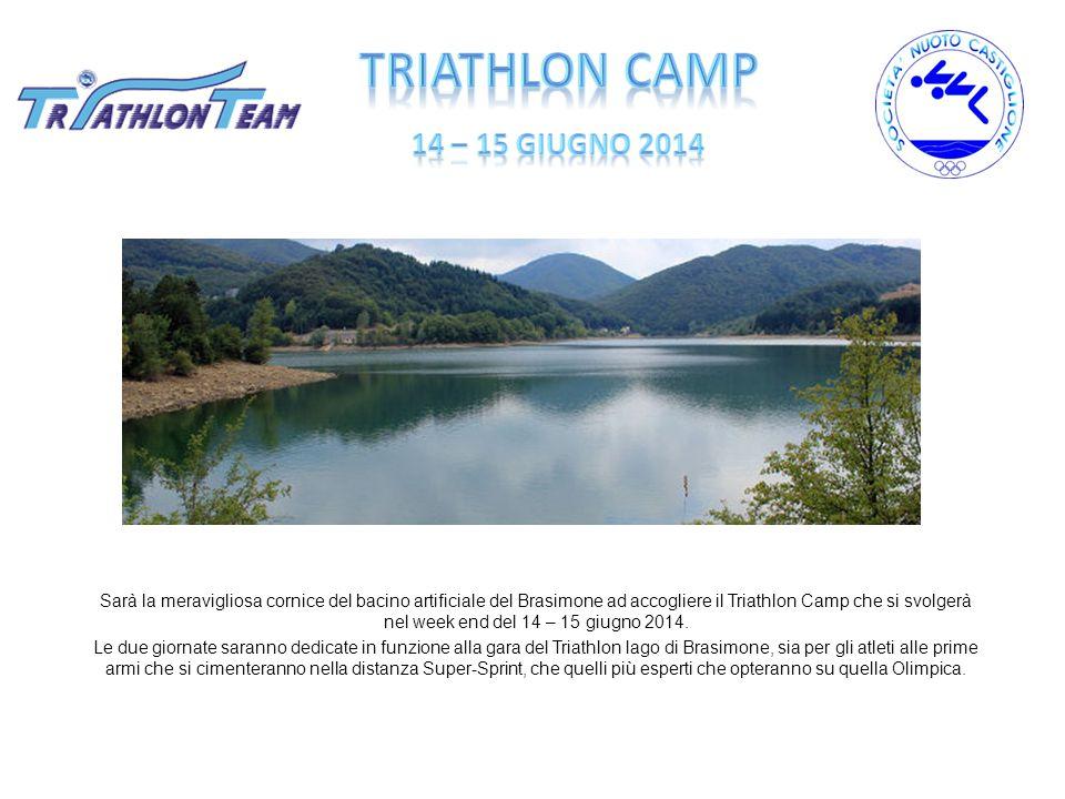 Sarà la meravigliosa cornice del bacino artificiale del Brasimone ad accogliere il Triathlon Camp che si svolgerà nel week end del 14 – 15 giugno 2014.
