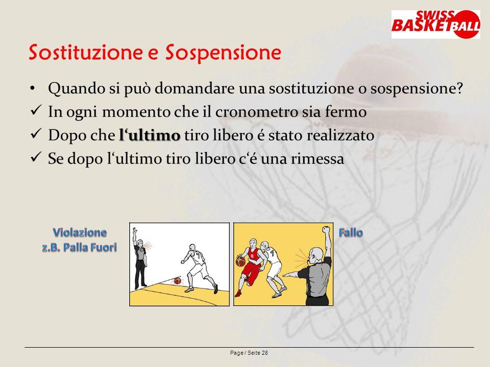 Page / Seite 28 Sostituzione e Sospensione Quando si può domandare una sostituzione o sospensione.