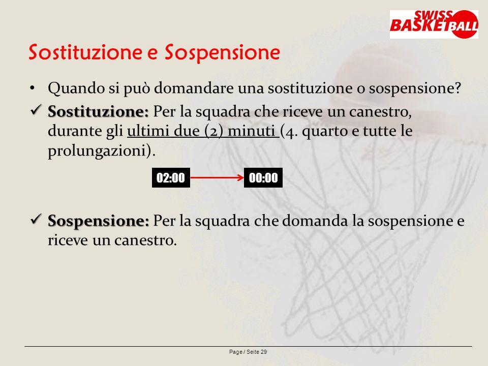 Page / Seite 29 Sostituzione e Sospensione Quando si può domandare una sostituzione o sospensione.