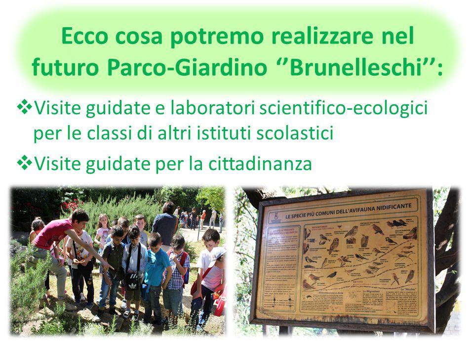 Terza fase: Abbiamo focalizzato l'attenzione sul Giardino Didattico del Liceo ''F. Brunelleschi'', costituito da quasi due ettari di spazi verdi, per