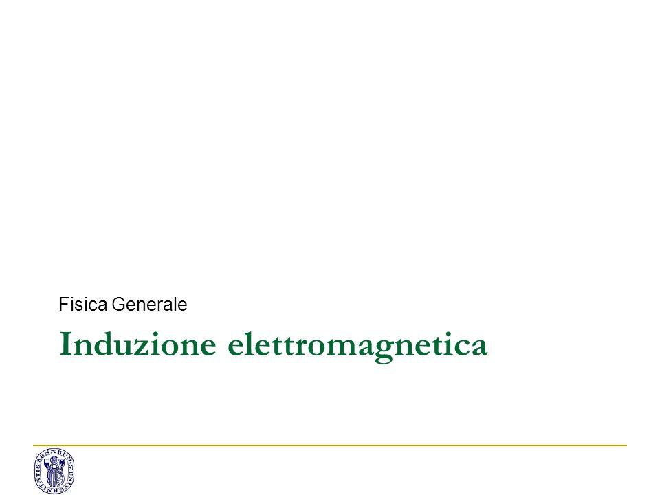 Induzione elettromagnetica Fisica Generale
