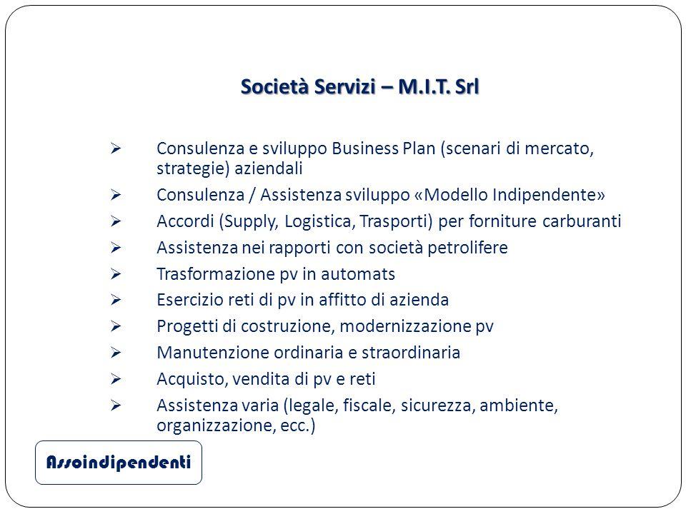 Società Servizi – M.I.T. Srl Assoindipendenti  Consulenza e sviluppo Business Plan (scenari di mercato, strategie) aziendali  Consulenza / Assistenz