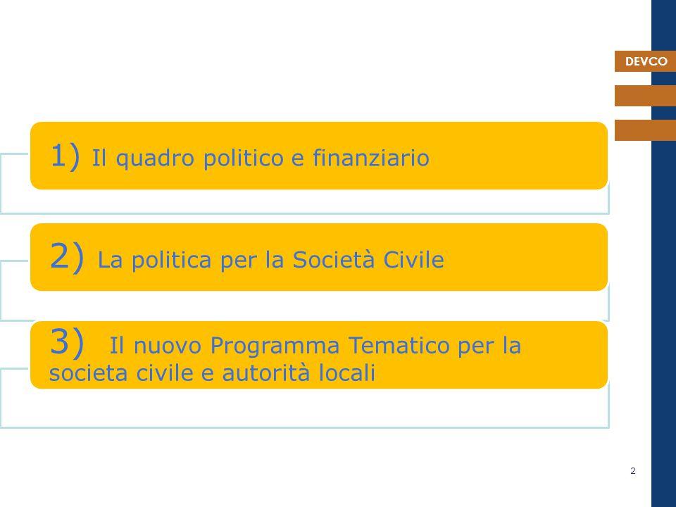 DEVCO 23 Nuova politica Nuovi strumenti 2014-20
