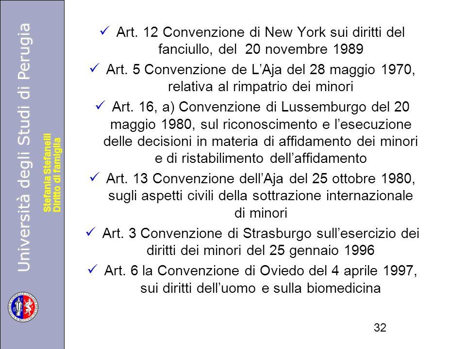 Università degli Studi di Perugia Diritto di famiglia Stefania Stefanelli Università degli Studi di Perugia Diritto di famiglia Stefania Stefanelli Art.