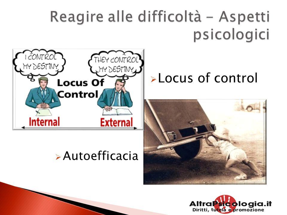  Locus of control  Autoefficacia