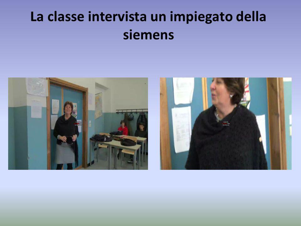 La classe intervista un impiegato della siemens