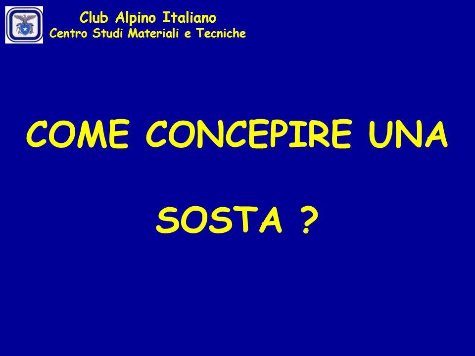 E se uno degli ancoraggi dovesse cedere? Club Alpino Italiano Centro Studi Materiali e Tecniche