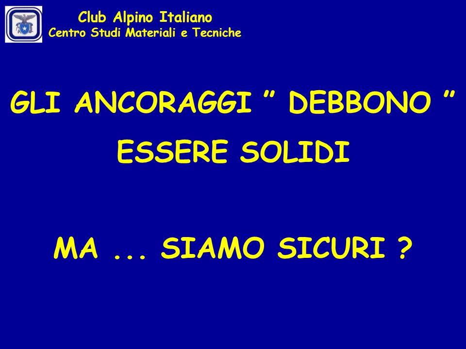Club Alpino Italiano Centro Studi Materiali e Tecniche LA DINAMICA DEL VERTICE