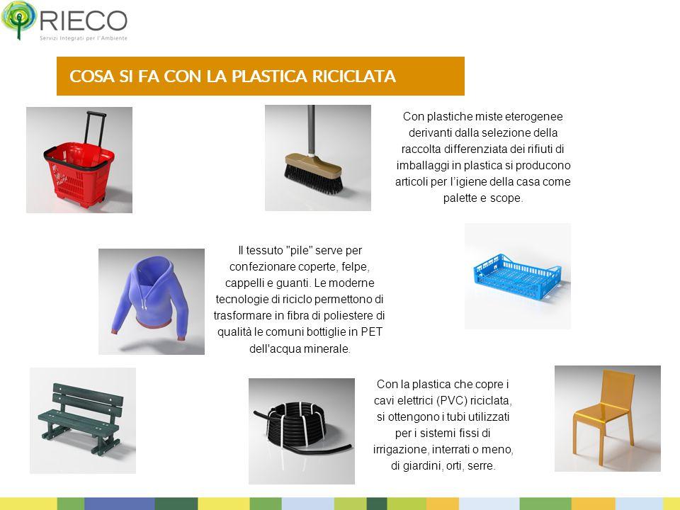 15 Con la plastica che copre i cavi elettrici (PVC) riciclata, si ottengono i tubi utilizzati per i sistemi fissi di irrigazione, interrati o meno, di giardini, orti, serre.