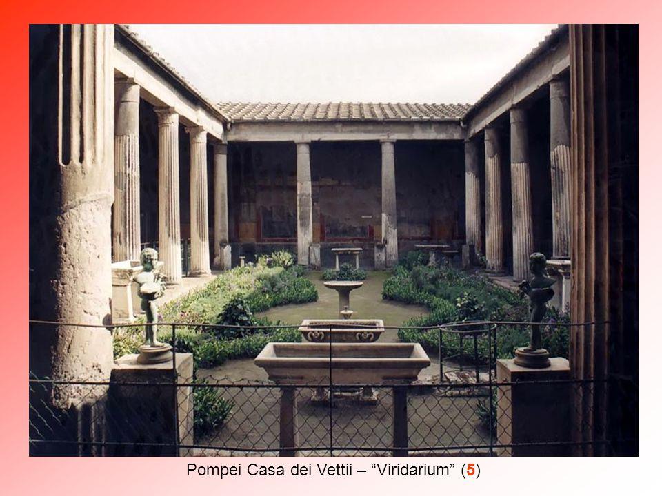 """Pompei Casa dei Vettii – un affresco del """"peristilio"""""""