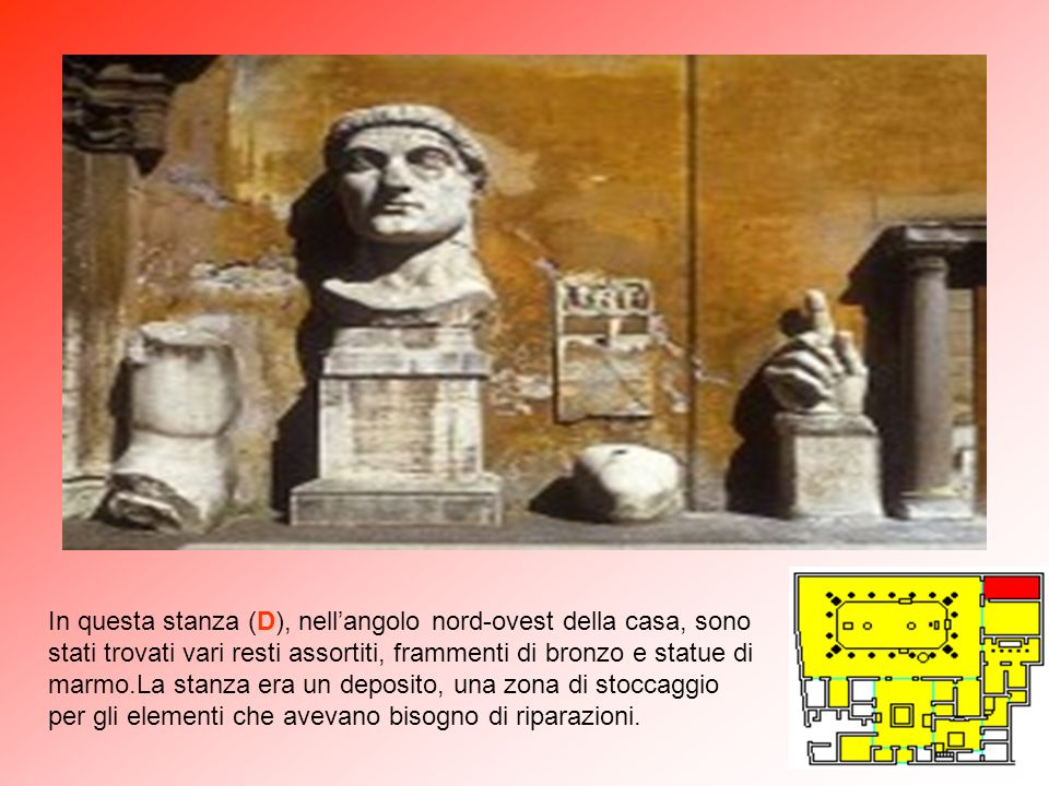 """Pompei Casa dei Vettii – particolare del """"viridarium"""" con vasca marmorea"""