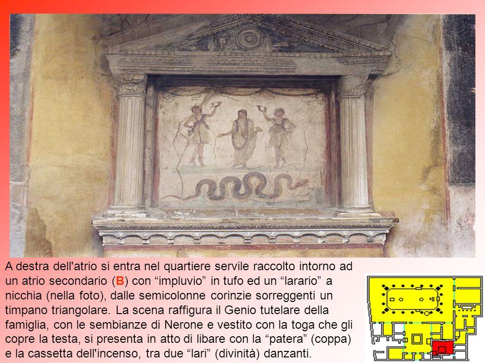 Nella saletta a destra (8) dell'ampio atrio vi sono affreschi di amorini