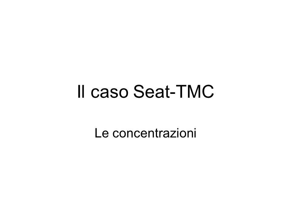 Il caso Seat-TMC Le concentrazioni