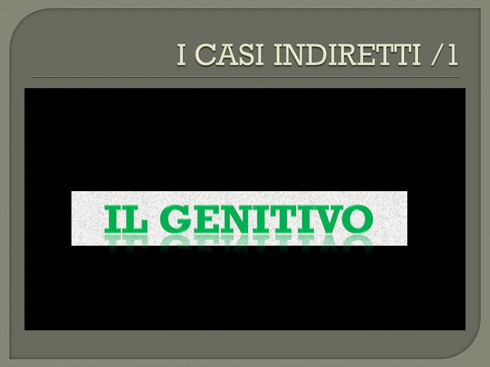 est ( predicato) Or ă Sostantivo nominativo Siciliae Genitivo Compl.