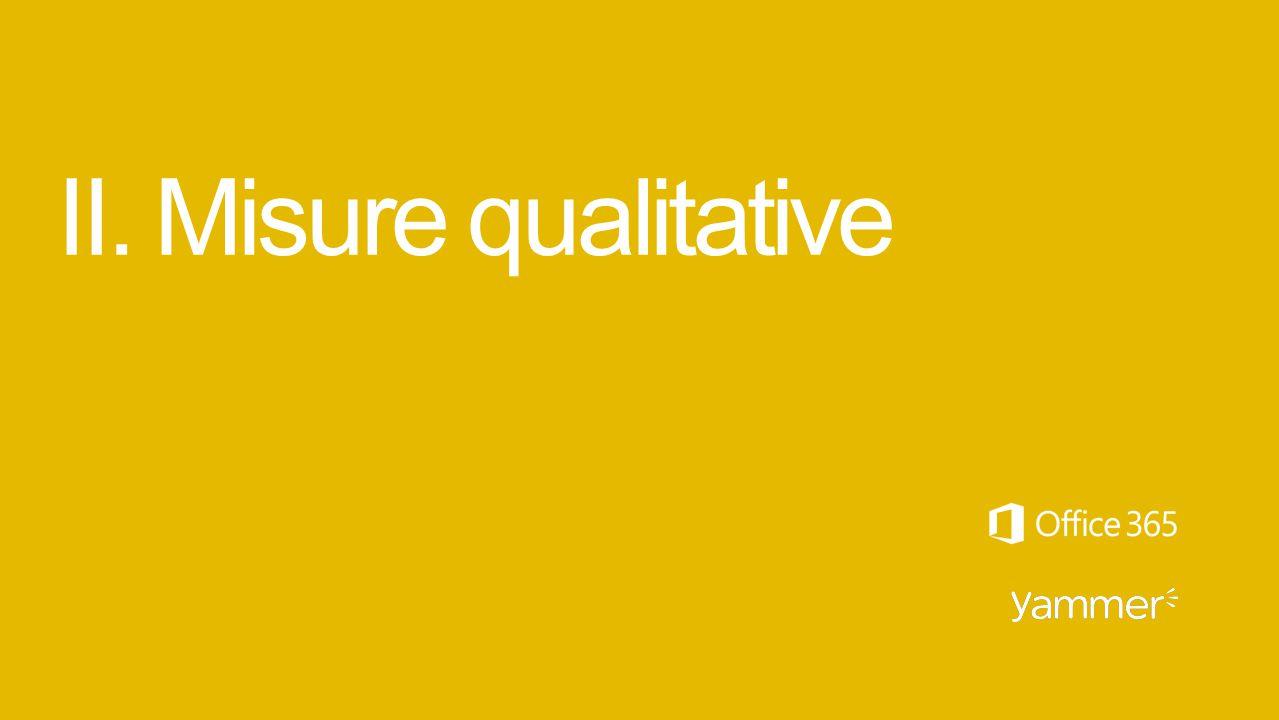 II. Misure qualitative