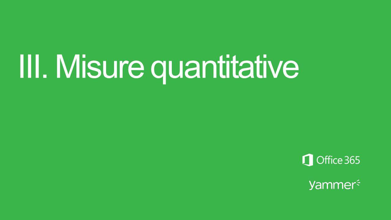 III. Misure quantitative