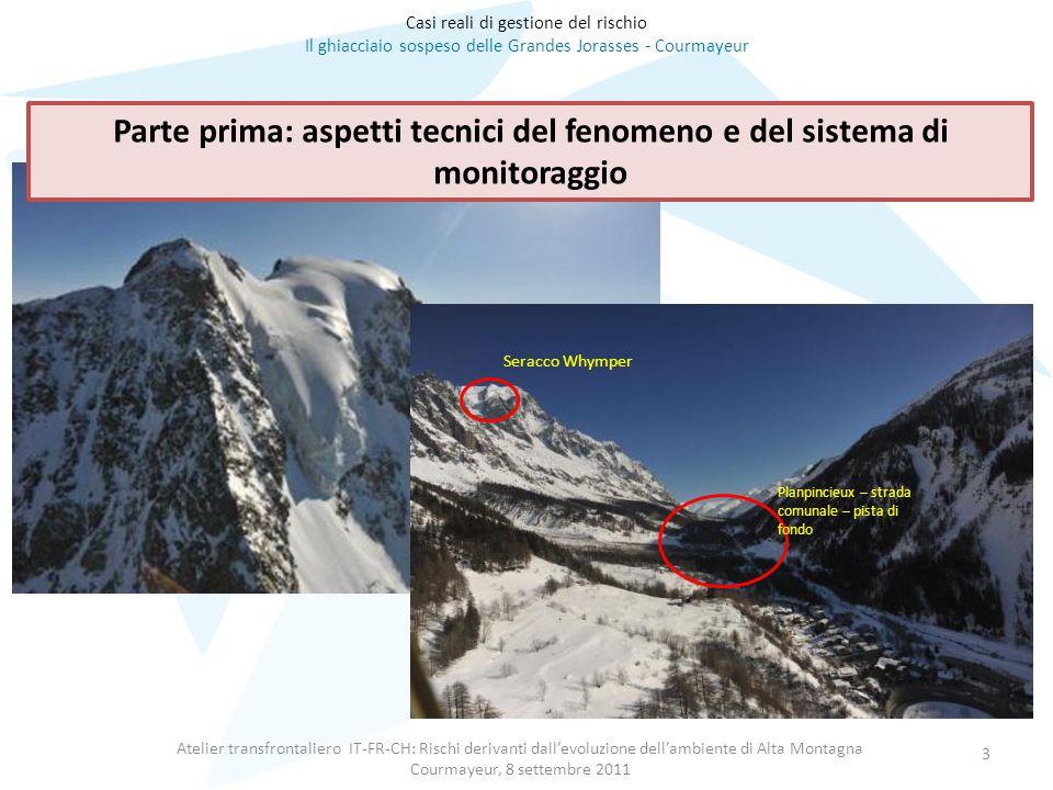 Atelier transfrontaliero IT-FR-CH: Rischi derivanti dall'evoluzione dell'ambiente di Alta Montagna Courmayeur, 8 settembre 2011 3 Casi reali di gestio
